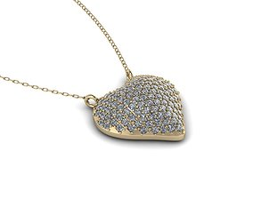 Jewelry Heart Pendant 3D print model