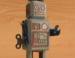 3D model Vintage Style Collectible Robot MS294