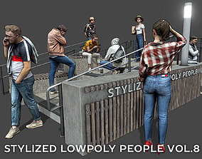 Stylized Lowpoly People Casual Pack Volume 8 3D asset