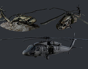 Sikorsky UH60 Black Hawk Military 3D model 4