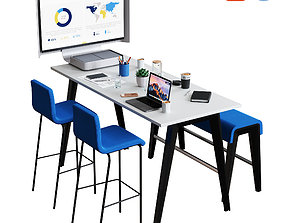 3D Steelcase - B-Free Conference Set