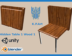 Hidden Table 1 Wood 1 3D asset animated