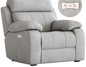 3D Armchair with Foot lift