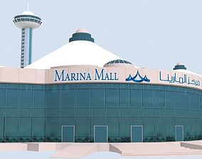 3D model Marina Mall Abu Dhabi Low Poly