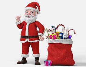 Cartoon Santa Claus Rigged 3D model