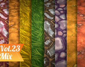 3D asset Stylized Ground Mix Vol 23 - Hand Painted