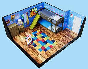 Bedroom Scene 3D asset