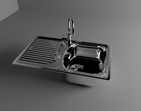 interior A Stainless Steel Sink 3D