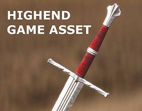 3D asset Medieval Sword for Games and Cinematics 01
