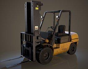 Forklift Truck 3D asset VR / AR ready