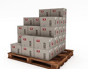 3D Warehouse Box Model 2 low-poly