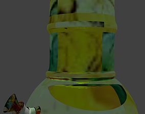 3D bong with all textures and transperant glass realtime