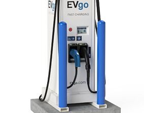 3D Electric Vehicle Charging Station EV GO 5