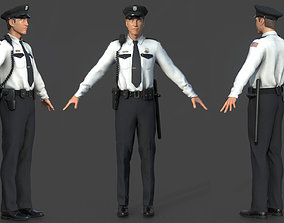 3D POLICE OFFICER white