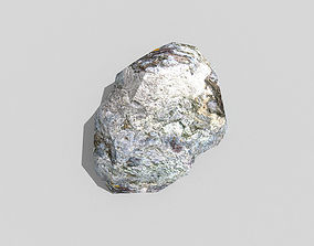 low poly rock 3D asset low-poly