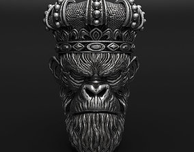 3D printable model Monkey king with crown vol1 Pendant