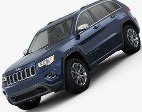 3D model Jeep Grand Cherokee 2014 detailed interior