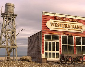 3D asset WILD WEST BUILDING 5
