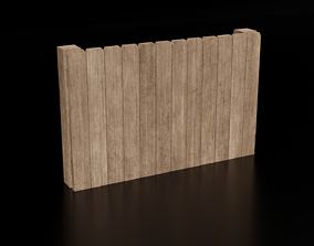 realtime Wooden Fence 2 - Low Poly Wooden Fence Panels - 2