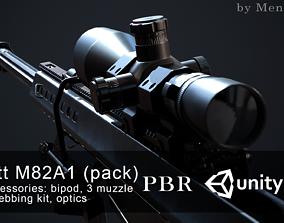 Barrett M82A1 3D asset game-ready