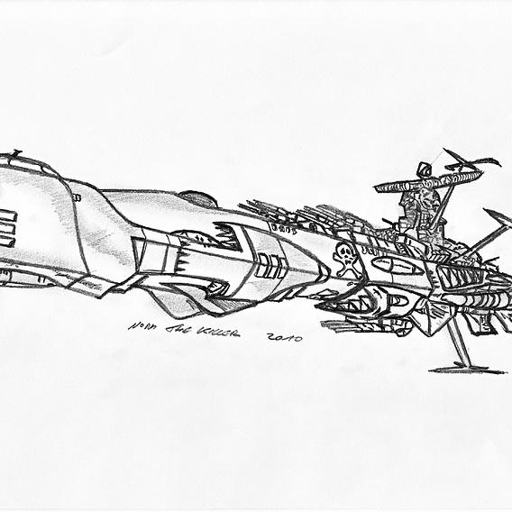Albator the space pirate ship