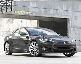 coupe Sport Car Tesla Model S 3D