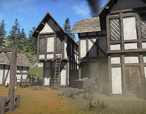 FREE Medieval Buildings Sample Model 3D asset