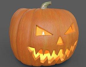 Halloween Pumpkin 3D model game-ready PBR