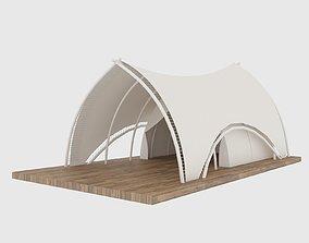 camping opera tent 3D model