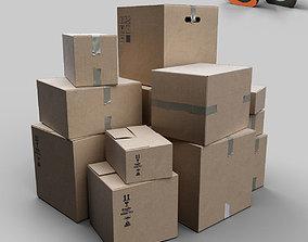 Cardbox 3D asset