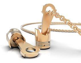 3D print model Piston necklace unisex