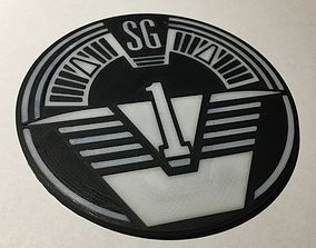 3D printable model Stargate SG-1 Patch Coaster