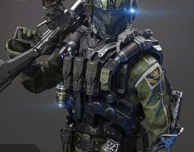 3D asset SCIFI - ASSAULT SOLDIER