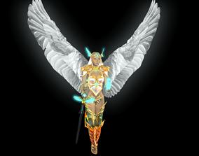 3D model A flying female angel