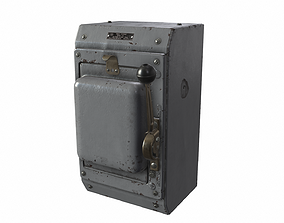 Power Box Green 3D asset