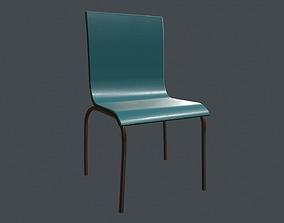 Simple Chair - School Chair - Canteen Chair 3D asset