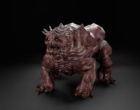 Dog alien UFO creature monster 3D asset game-ready