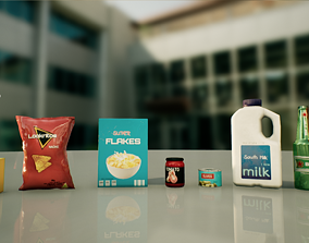 3D asset game-ready SuperMarket Products V1