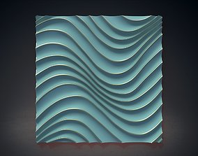 Wall Panel Waves wawes 3D model