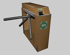 3D asset subway gate