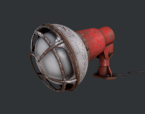 Construction Light 3D asset