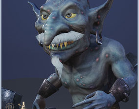 3D asset Goblin Slave