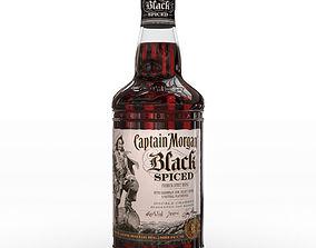 3D model Captain Morgan Black Spiced Rum 70cl US Bottle