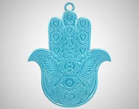 Hamsa Hand Necklace 3D print model