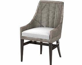 Palecek vincent side chair 3d model