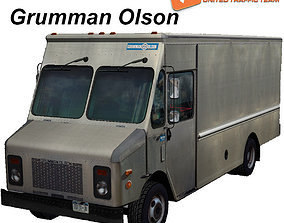 Grumman truck bare metal 3D asset
