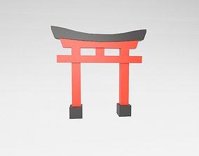 Shinto Shrine v1 001 3D asset