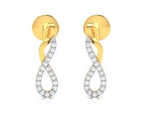 Women earrings 3dm render detail drops