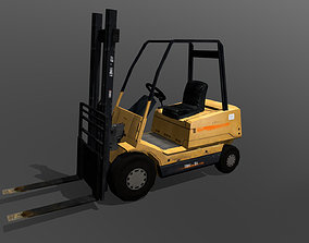 Forklift cargo 3D model game-ready
