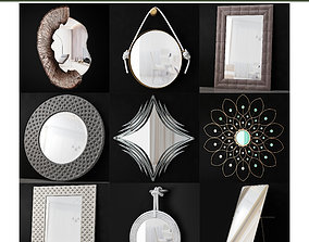 low-poly Mirrors collection low poly 3d model
